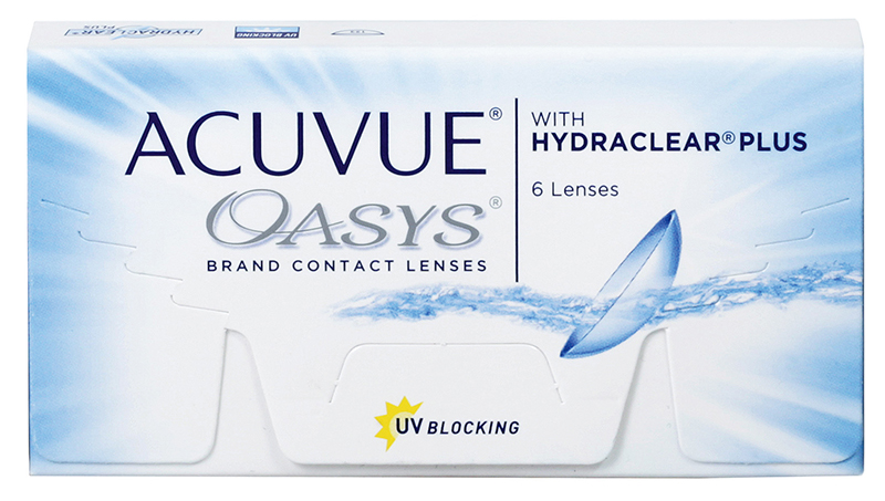 Acuvue® Oasys z Hydraclear® Plus 6 szt. + Torba na zakupy GRATIS! (do 2 op.)