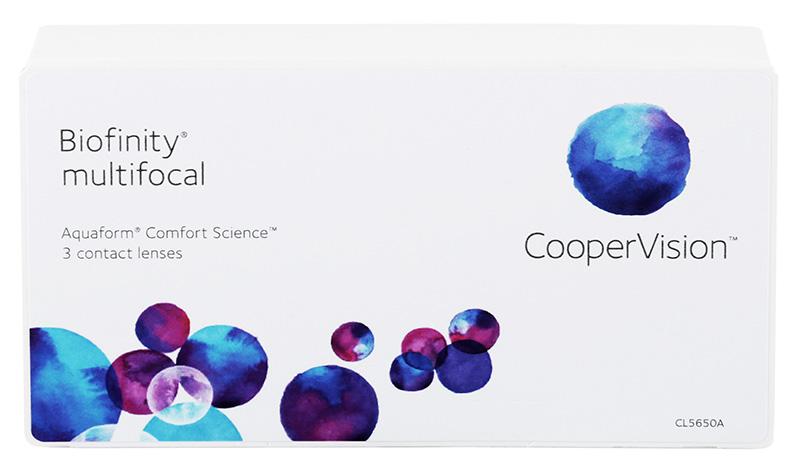 Biofinity® Multifocal 3 szt. typ D + Czapka GRATIS (do 2 op.)