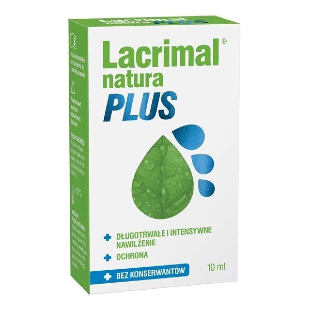 Lacrimal Natura Plus krople do oczu 10 ml